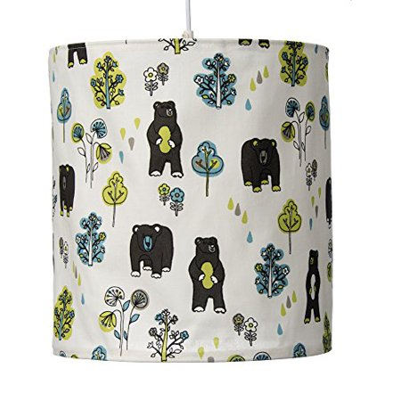- Glenna Jean North Country Hanging Drum Shade, Bear Print