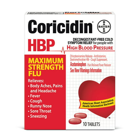 Coricidin RAP Force maximale grippe secours, 10 Ct