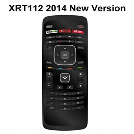 New XRT112 iHeart Remote fit for VIZIO 2014 2015 Smart LCD LED TV with Amazon Netlix iHeart Radio App Key ()