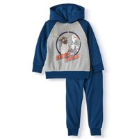 Disney Frozen 2 Olaf and Sven Toddler Boy Clothes Hoodie Sweatshirt & Jogger Pant, 2pc Outfit Set