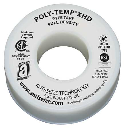 Sealant Tape,1-1/2 In. W,520 In. L ANTI-SEIZE TECHNOLOGY 46270
