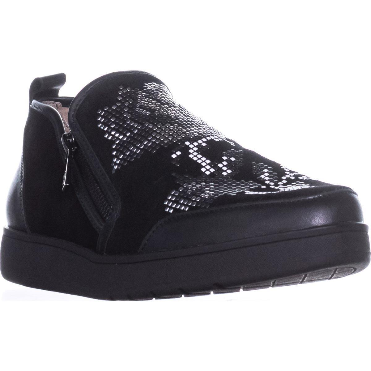 Womens Donald J Pliner Mylasp Slip-on Fashion Sneakers, Black Suede by Donald J Pliner