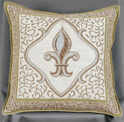 Simply Home Fleur De Lis/Ivory - Pillow (RP719-03)