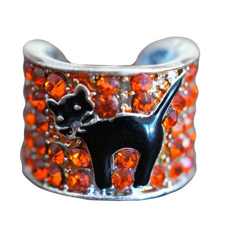 UltraScope Crystal Stethoscope Charm - Halloween Cat