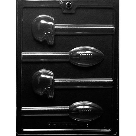 Cybrtrayd 45StK25S-S111 Football and Helmet Pretzel Pops Sports Chocolate Candy Mold, Includes 25 Lollipop Sticks, 25 Cello Bags and 25 Silver Twist Ties for $<!---->