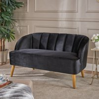 Christopher Knight Home Amaia Modern Velvet Loveseat Sofa by