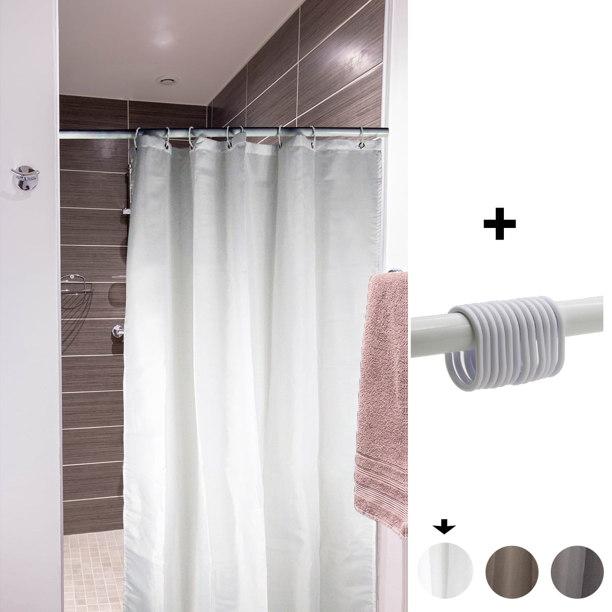 Stall Shower Curtain Liner Narrow Size