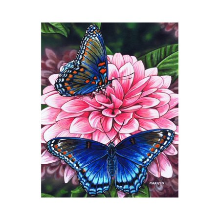 Red Spotted Purple Print Wall Art By Marilyn (Purple Red Art Print)