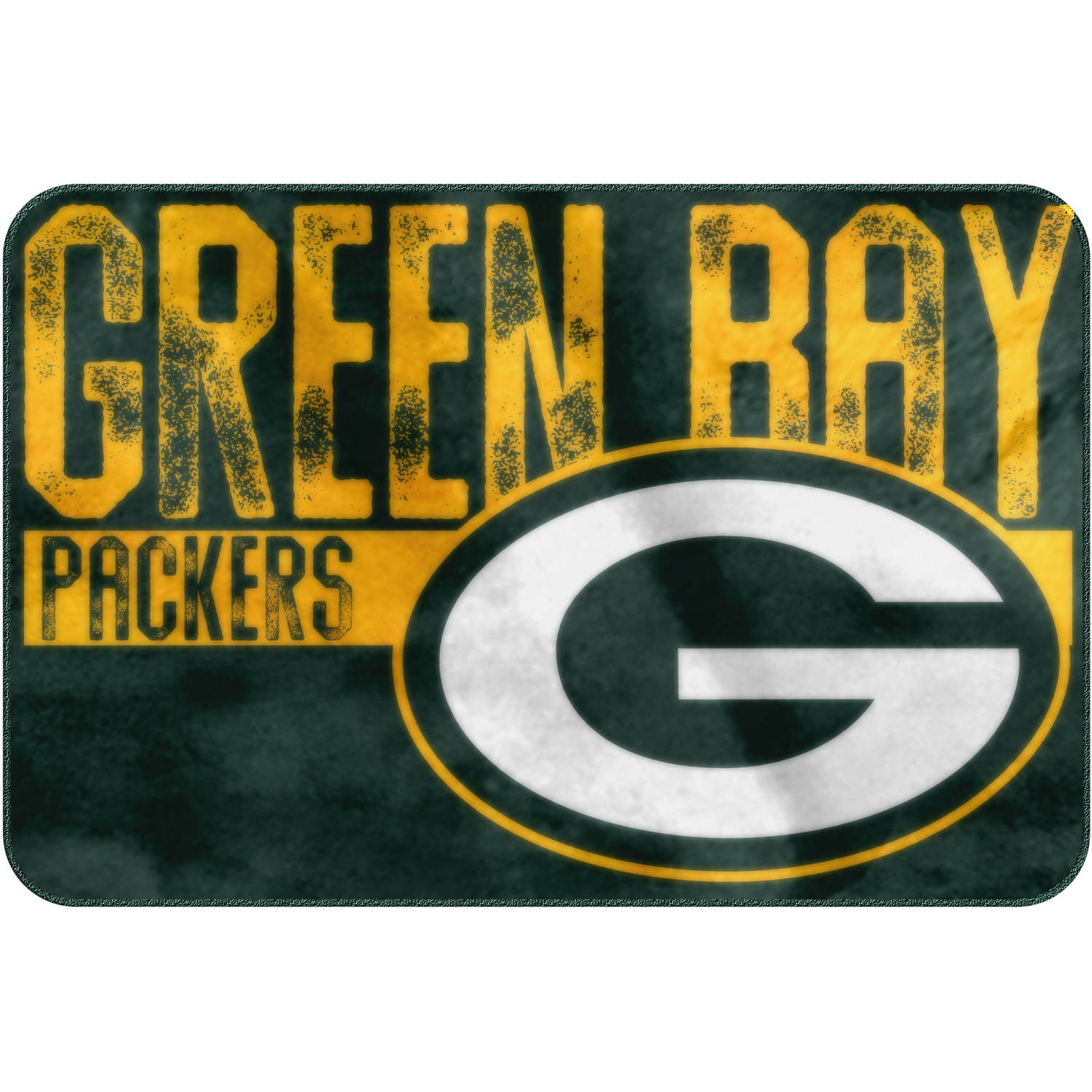 "NFL Green Bay Packers ""Worn Out"" Mat, 20"" x 30"""