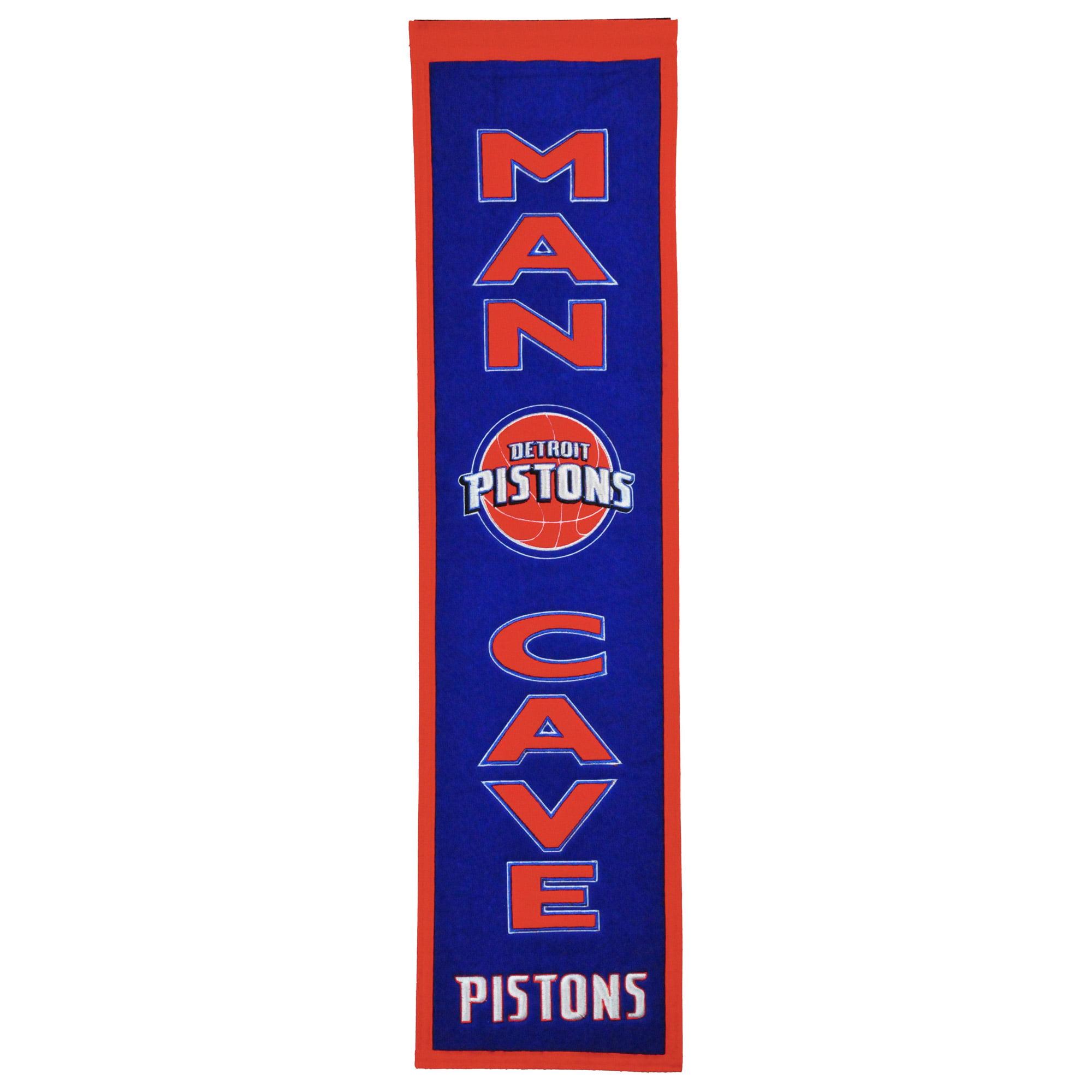 """Detroit Pistons 8"""" x 32"""" Man Cave Banner - No Size"""