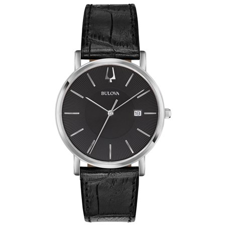 - Bulova Men's Classic Dress Watch with Black Leather Strap