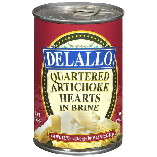 Delallo Quartered In Brine Artichoke Hearts, 13.75 oz by Generic