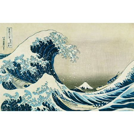 Trends International The Great Wave Wall Poster 22.375