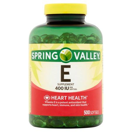 Spring Valley Vitamin E Softgels, 400 IU, 500 Count