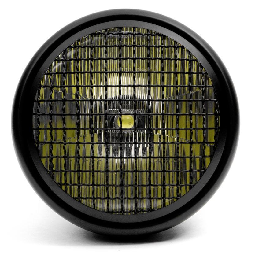 "Krator 7"" Black LED Motorcycle Headlight w/ Side Mounting Running Light High / Low Beam for Kawasaki Mach 500 750 KH S3 Trial Boss - image 2 de 7"