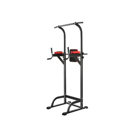 The worth buy Power Tower 90'' Home Adjustable Abs Workout Gym Knee Crunch Triceps Station Fitness Power Tower (Best Workout For Bad Knees)