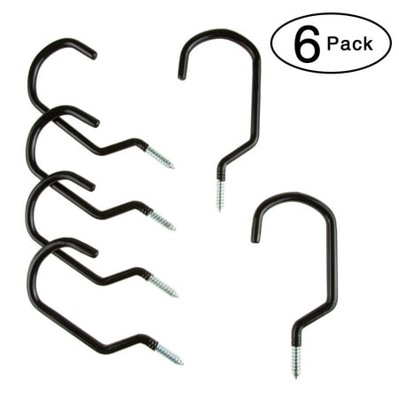 Wall or Ceiling Mount Bike Hooks - Multipurpose Heavy Duty Galvanized Steel Utility Screw In Hangers with 50 Pound Capacity by Stalwart