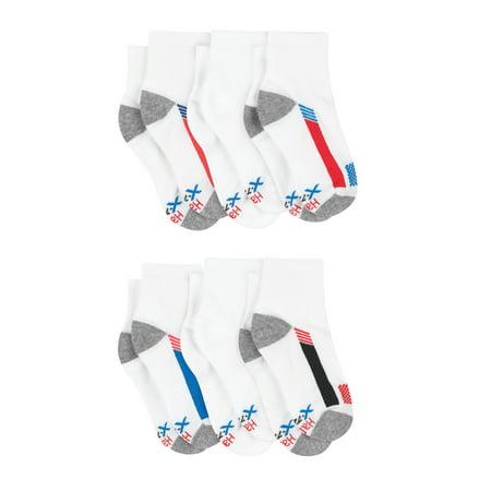 Hanes Boys Socks, 6 Pack Ankle X-Temp (Big Boys)