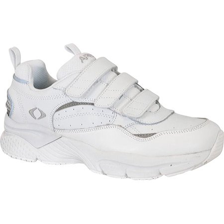Velcro Sneaker - apex x923m men's athletic shoe: 13 x-wide (3e-4e) white velcro