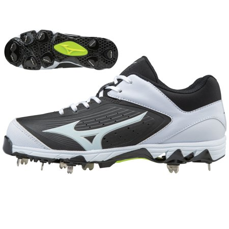 Mizuno Women's 9 Spike Swift 5 Fastpitch Softball Cleats (Black/White, 5.5) (All Star Game Cleats)