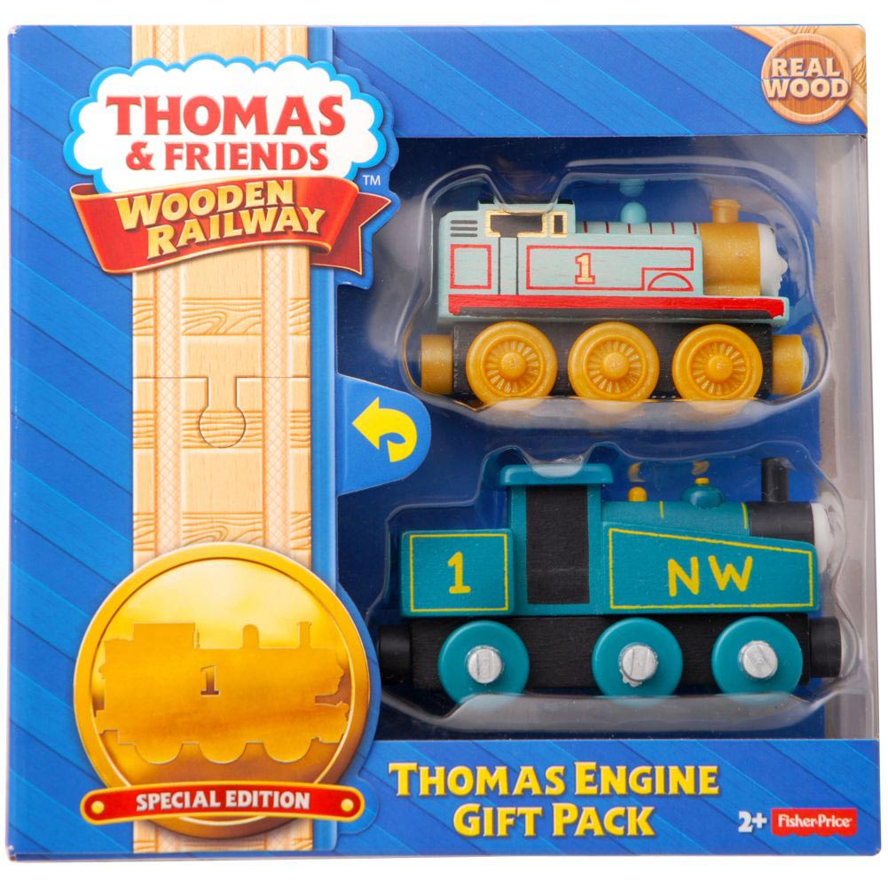 Fisher-Price Thomas the Train Wooden Railway Thomas Engine Gift Pack