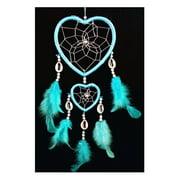 Handmade Heart-shaped Dream Catcher (With a Betterdecor Gift Bag) (Light Blue)