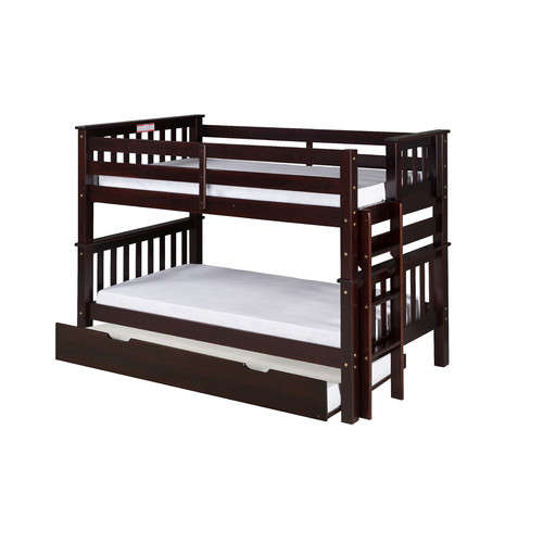 Camaflexi Santa Fe Mission Twin over Twin Bunk Bed with Trundle