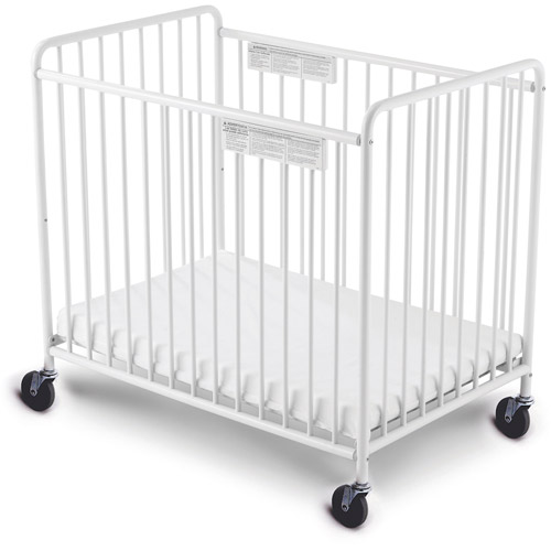 Foundations Little Dreamer Portable Crib with Mattress White