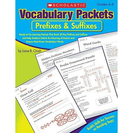 Vocabulary Prefixes And Suffixes - Prefixes & Suffixes