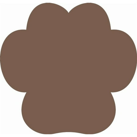 Wooden Wide Paw Print Shape, Unfinished Wood Craft