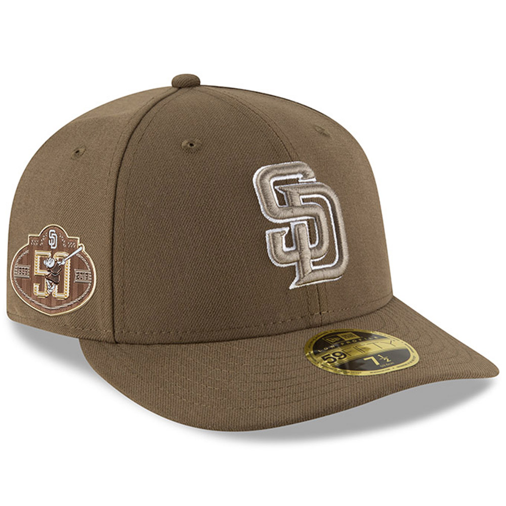 San Diego Padres New Era 50th Anniversary Authentic Collection On-Field Low Profile 59FIFTY Fitted Hat - Brown