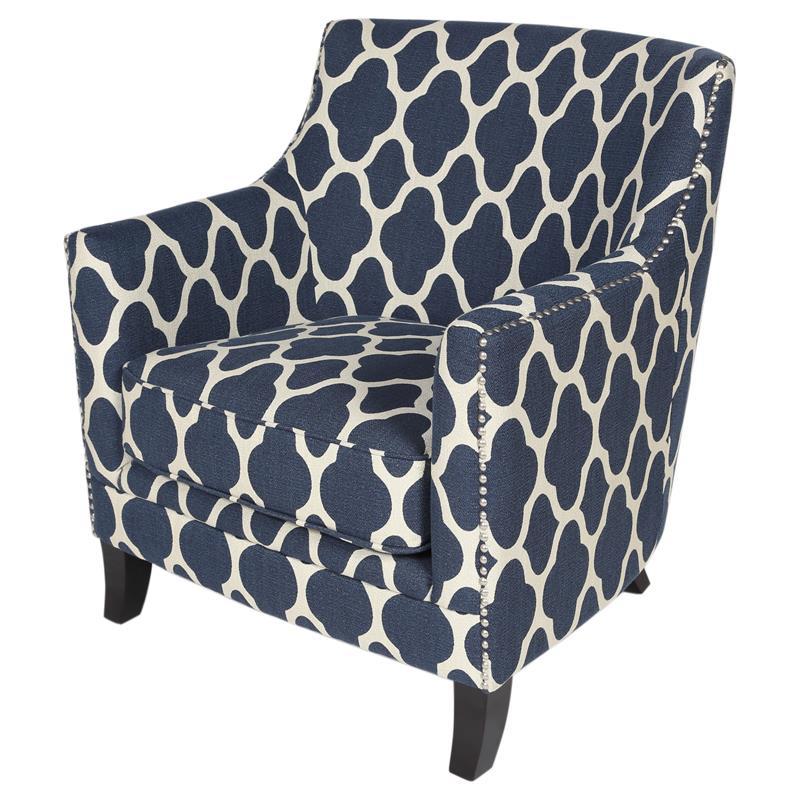 Morracan Accent Chair: Cassie Moroccan Pattern Low-Back Accent Chair