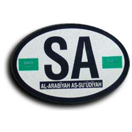Saudi Arabia Oval decal