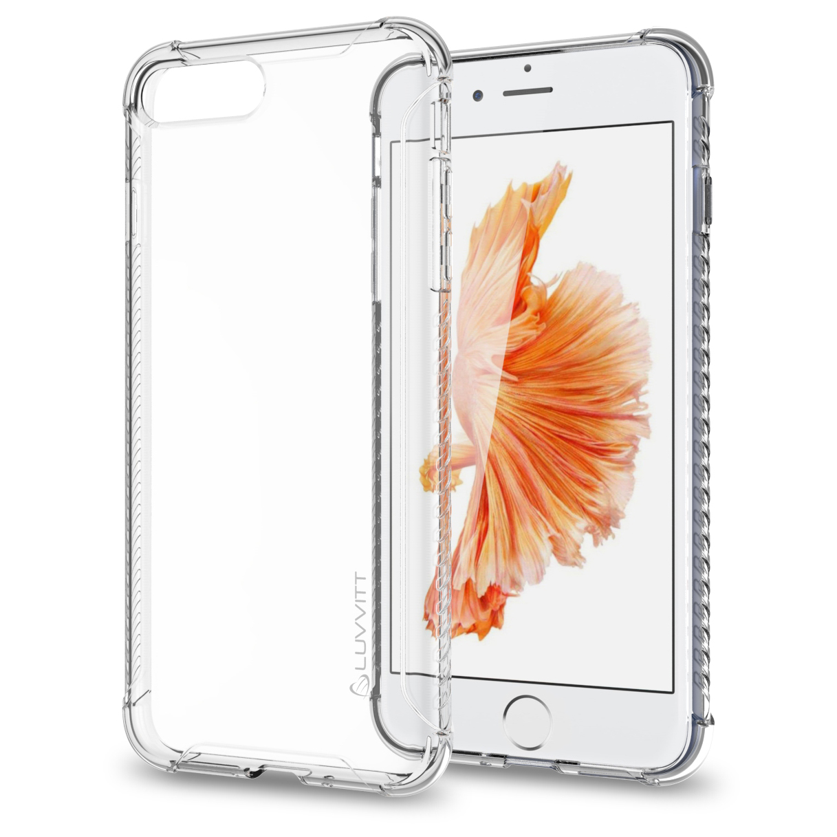 iPhone 7 Pro Case, LUVVITT [Clear Grip] Soft Slim Flexible TPU Back Cover Transparent Rubber Case for Apple iPhone 7 Pro - Clear