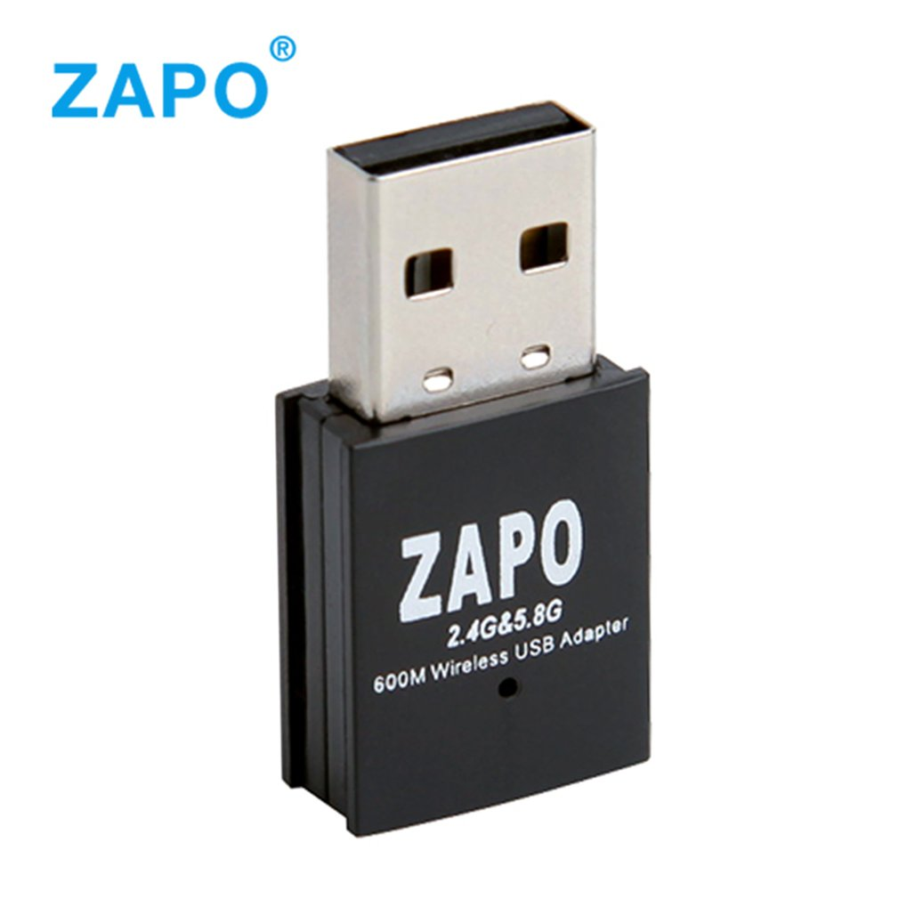 ZAPO W58 600M Dual Band USB WIFI Adapter Portable USB2.0 2.4G/5.8G Network Router Mini AC Wireless Repeater WIFI Receiver