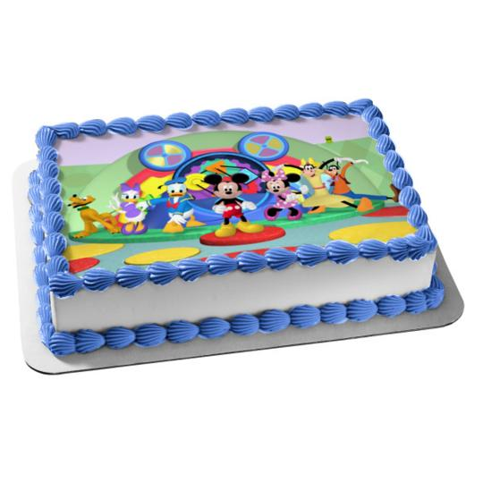 Minnie Mouse Smash Cake (Mickey Mouse Clubhouse Minnie Mouse Goofy Pluto Donald Duck Daisy Duck Disney Edible Cake Topper)