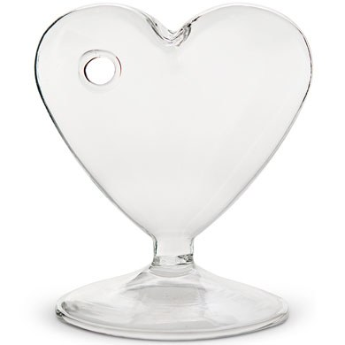 Small Clear Heart Shaped Vase
