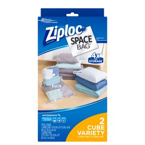 Ziploc Space Bag Cube Combo 2 Count 1 Large XL