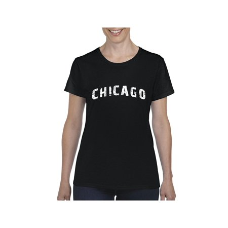 Illini T-shirts - Chicago illinois State Flag Women Shirts T-Shirt Tee