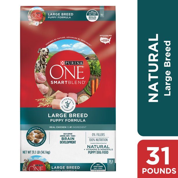Purina ONE Natural Large Breed Dry Puppy Food, SmartBlend Formula, 31.1 lb. Bag