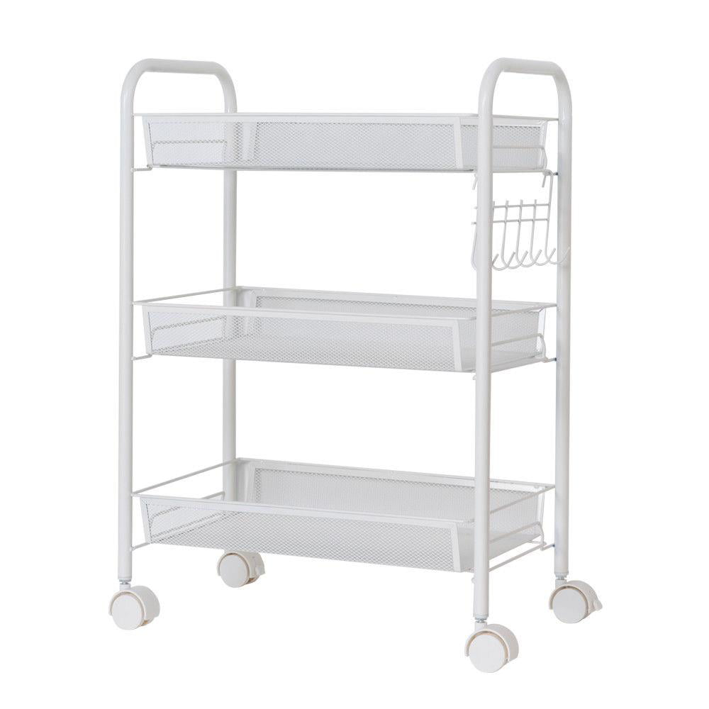 Ktaxon 3 Tier Shelf Shelving Rack Rolling Kitchen Pantry ...