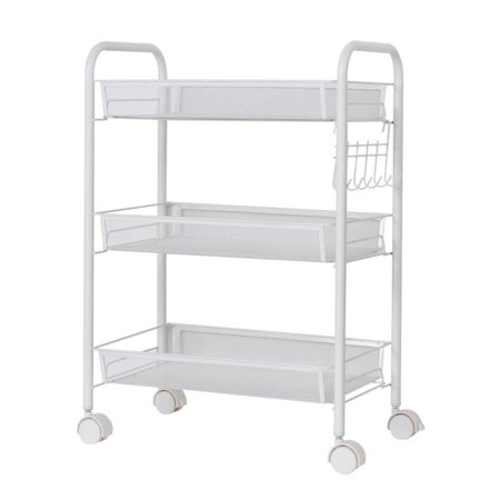 Ktaxon 3 Tier Shelf Shelving Rack Rolling Kitchen Pantry Storage Utility Cart (Utility Body Racks)