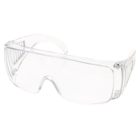 Safety Spectacles w/ Wide Upper Frame Fit Over Glasses - ST-22, Features Wide Upper Frame By Elenco From (Frame For Spectacles)