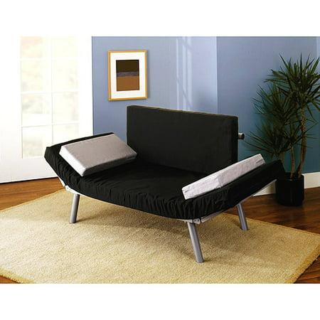 Dorel home euro futon frame silver component walmartcom for Walmart futon frame only