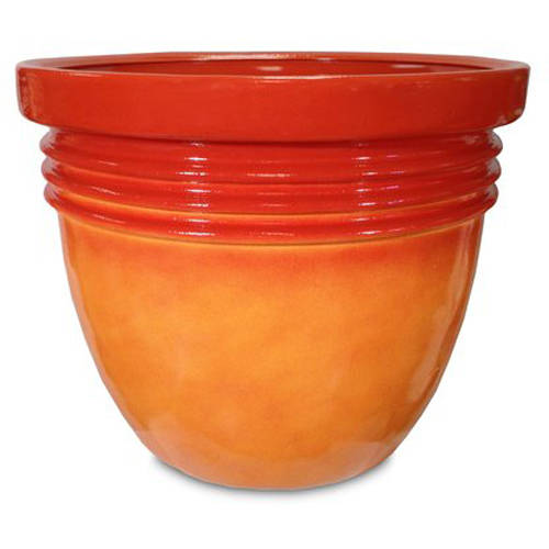 "Better Homes and Gardens 16"" Bombay Decorative Planter, Marigold"