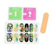 5 Sets Glitter Full Cover Adhesive Art Stickers Nails Manicure Tips