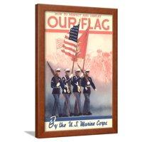 USMC Color Guard Framed Print Wall Art