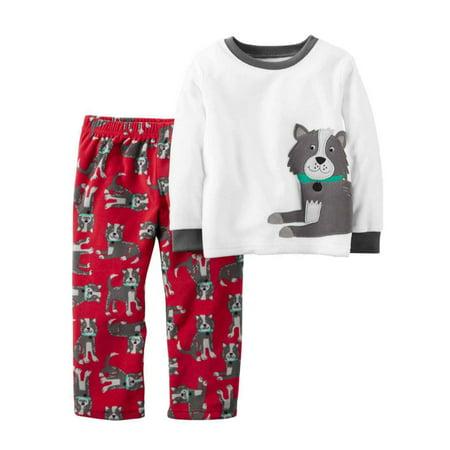 aa8e49b4f1ba Carters - Carters Toddler Boys 2 Piece Fleece Puppy Dog Sleepwear ...
