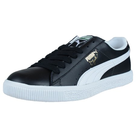 huge discount 6dad9 71bac Puma Clyde Leather FS Black/White Men's 352773 02 Size 6 Medium
