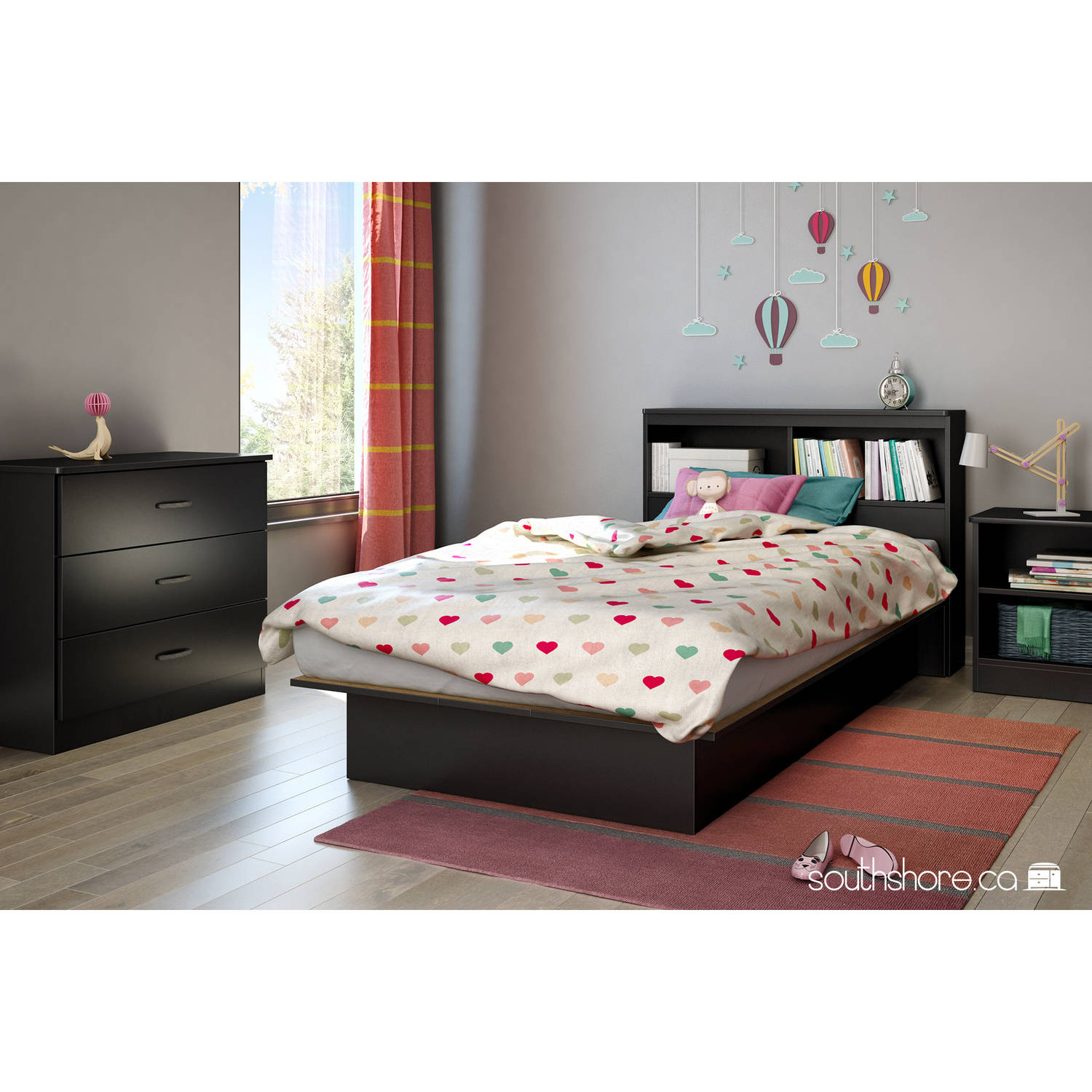 South Shore Smart Basics Twin Platform Bed, 39'', Multiple Finishes